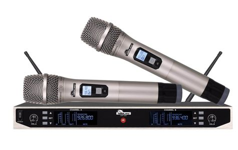 "IDOLpro UHF-305 Professional Dual Wireless Microphone System With Long Distance Operation And Free Interference <b><font color="" orange""> NEW 2019</font></b>"