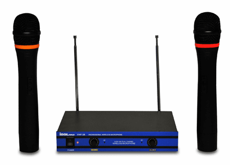 "IDOLpro VHF-38 Dual Channel Karaoke Wireless Microphone <font color="" orange""> Discontinued</font>"