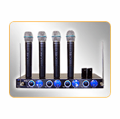 IDOLpro VHF-638 4 Channel VHF Wireless Microphone System