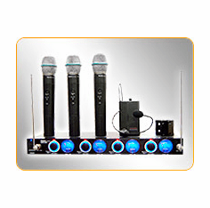 IDOLpro VHF-638H 4 Channel VHF Wireless Microphone System (3 Mic/1 Headset)