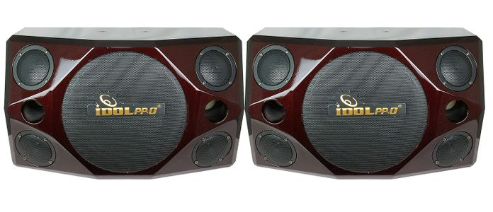 """IPS-690 800W Quad 3"""" Tweeter & 10"""" Woofer Red Cherry Wood Professional Vocal Speakers <font color="""" orange"""">Discontinued </font>"""