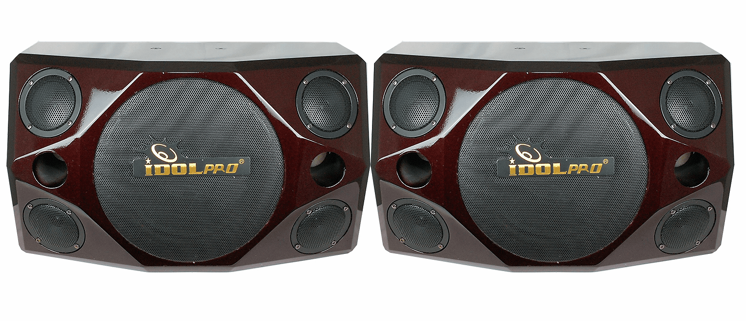"IPS-690 800W Quad 3"" Tweeter & 10"" Woofer Red Cherry Wood Professional Vocal Speakers <font color="" orange"">Discontinued </font>"