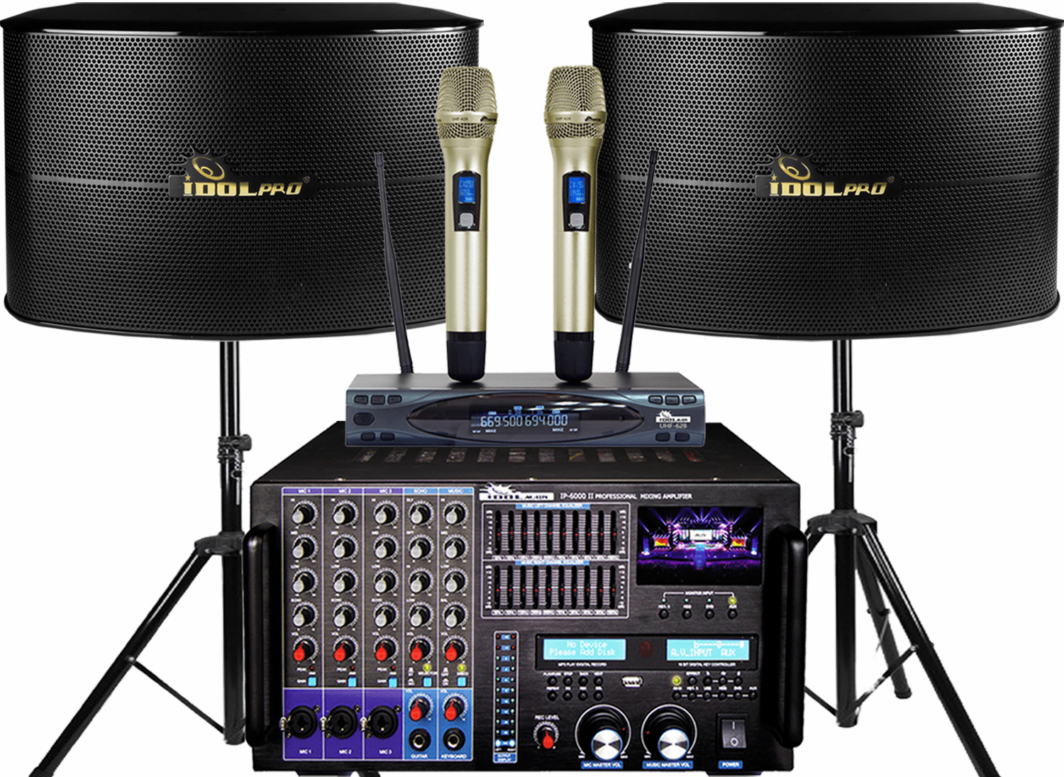 "<font color="" blue"">PACKAGE 2 </font> --IPS-13G Speakers & IP-6000 II Mixing Amplifier & UHF-628 Microphone"