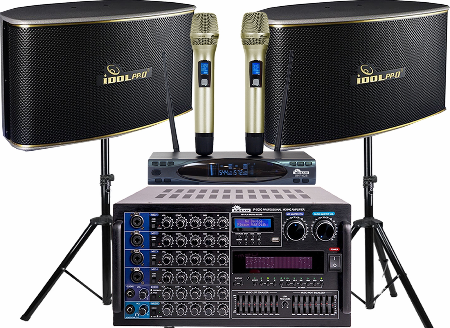 "<font color="" blue"">PACKAGE 2 </font> --IPS-630 Speakers & IP-5000 Mixing Amplifier & UHF-628 Microphone"