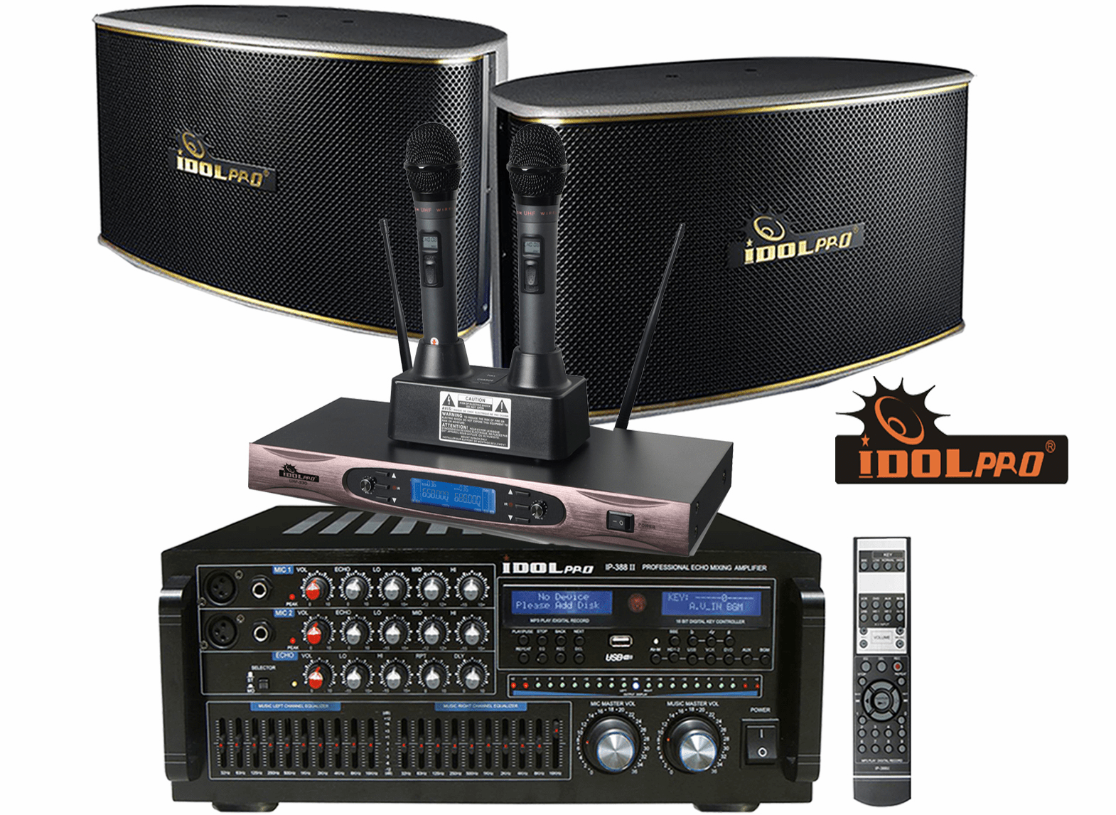 "<font color="" blue"">PACKAGE 3 </font> -- IPS-630 Speakers & IP-388 II Mixing Amplifier & UHF-330 Microphone"