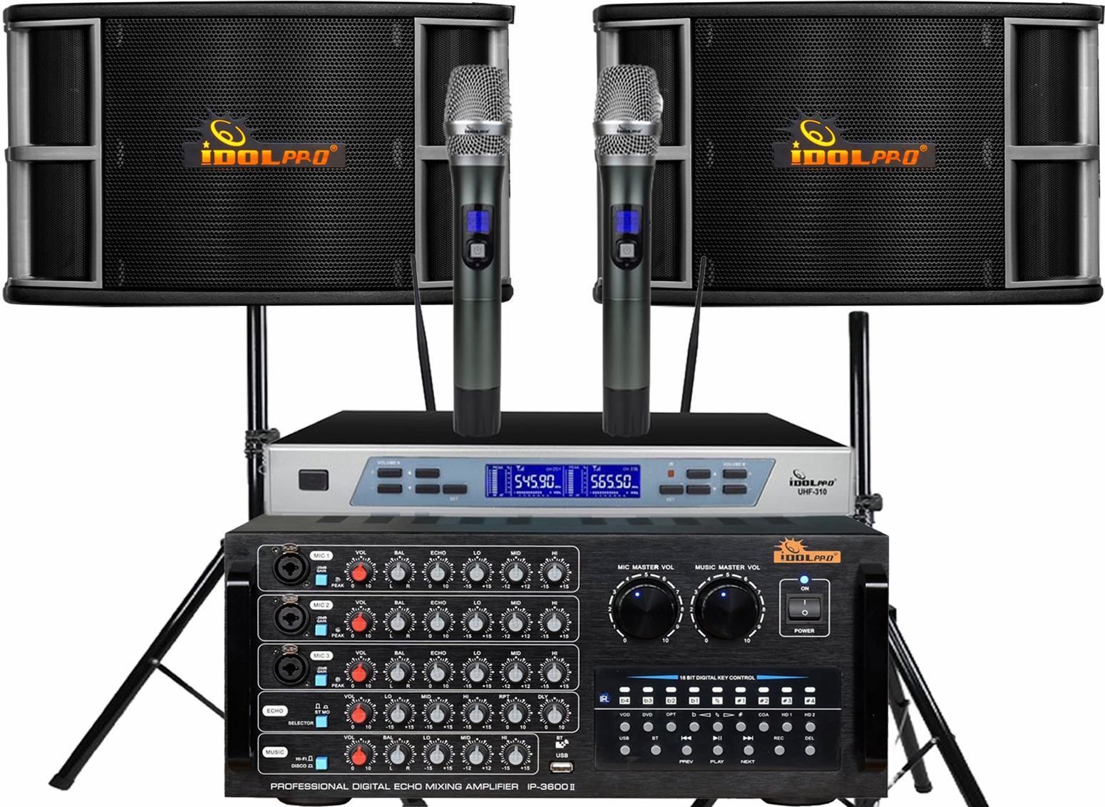 "<font color="" blue"">PACKAGE 3 </font> -- IPS-650 Speakers & IP-3600 II Mixing Amplifier & UHF-310 Microphone"