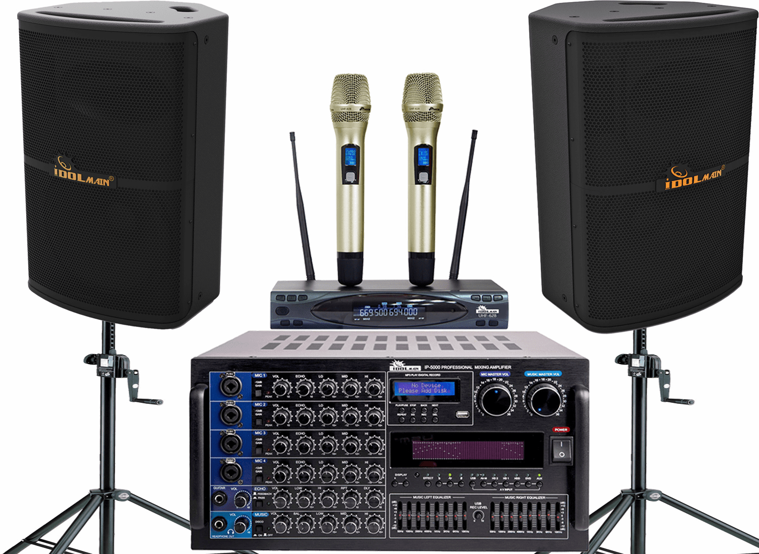 "<font color="" blue"">PACKAGE 5 </font>--IPS-P10 Speakers & UHF-618 Microphone & IP-5000 Mixing Amplifier"