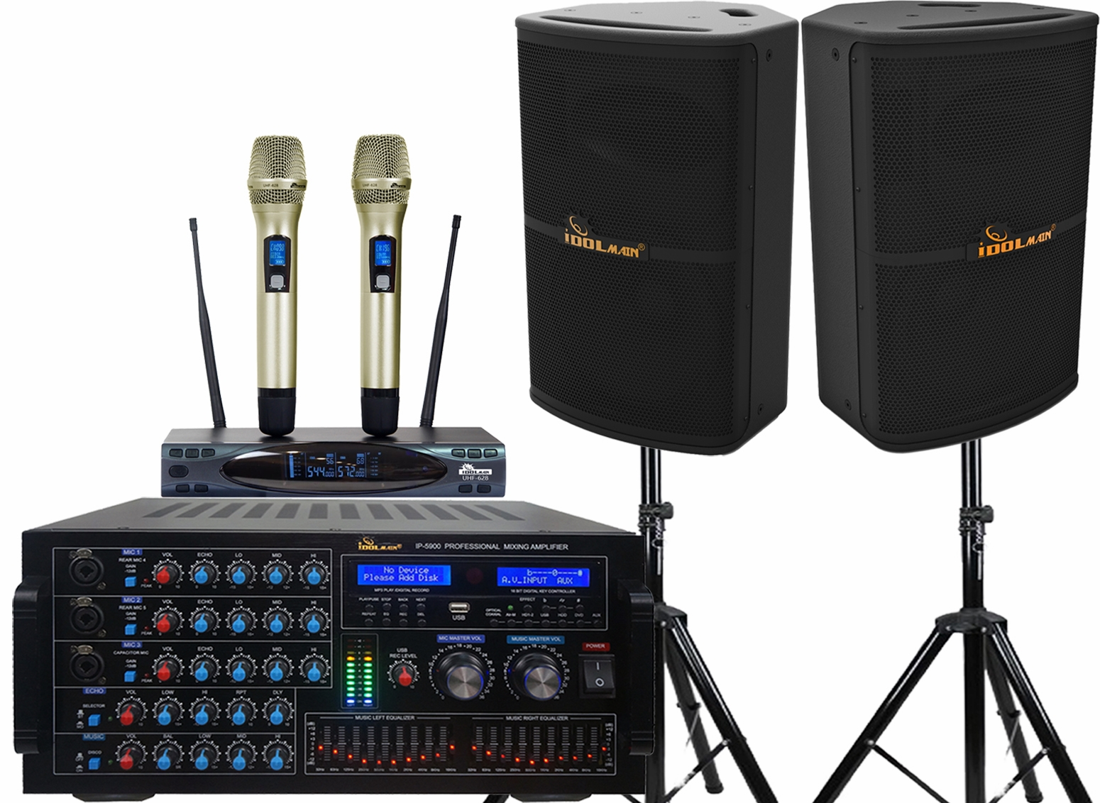 "<font color="" blue"">PACKAGE 5 </font>--IPS-P10 Speakers & UHF-628 Microphone & IP-5900 Mixing Amplifier"