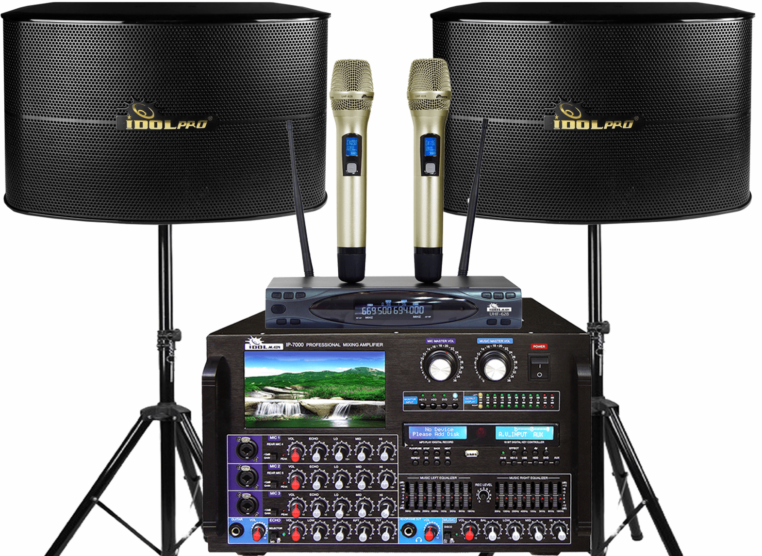 "<font color="" blue"">PACKAGE 6 </font> -- IPS-13G Speakers & IP-7000 Mixing Amplifier & UHF-628 Wireless Microphone"