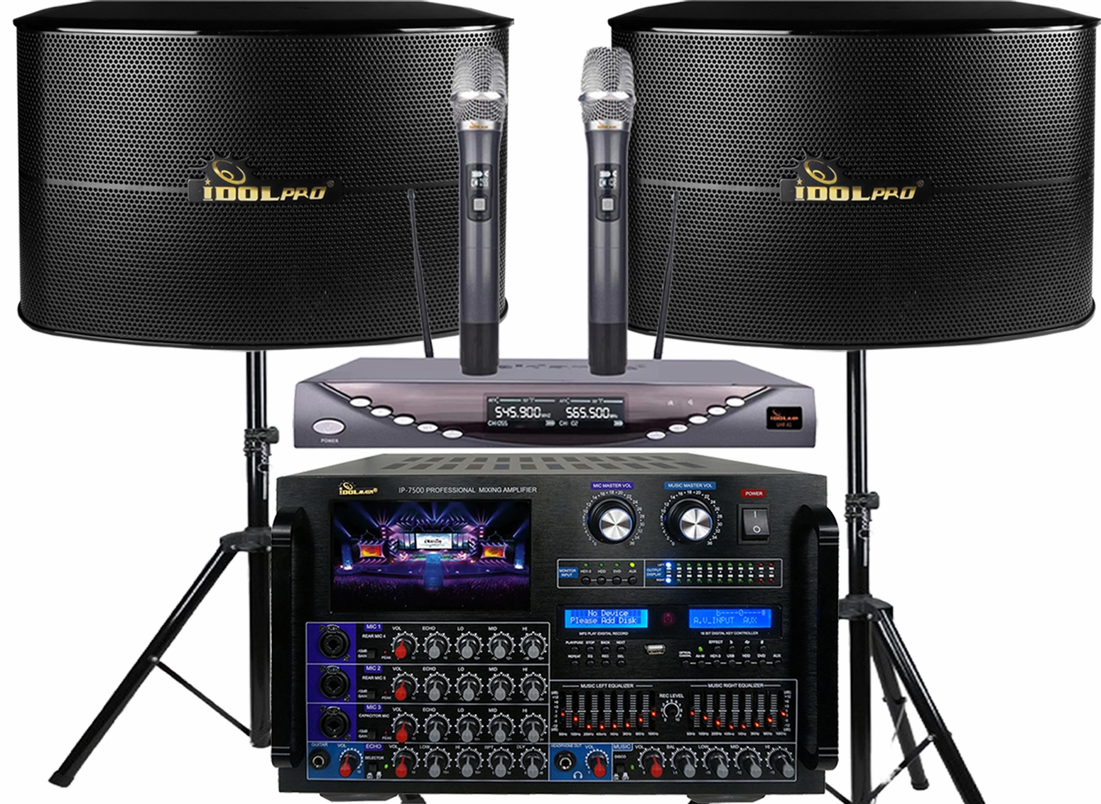 """<font color="""" blue"""">PACKAGE 6 </font> -- IPS-13G Speakers & IP-7500 Mixing Amplifier & UHF-X1Wireless Microphone"""