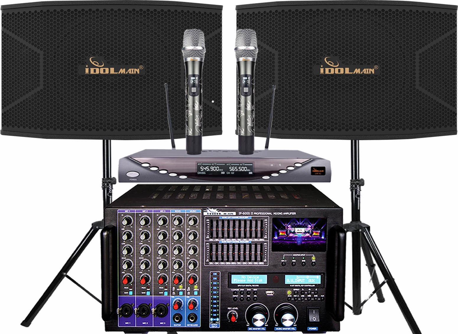 "<font color="" blue"">PACKAGE 6 </font> -- IPS-20 Speakers & IP-6000 II Mixing Amplifier & UHF-X1D Wireless Microphone"