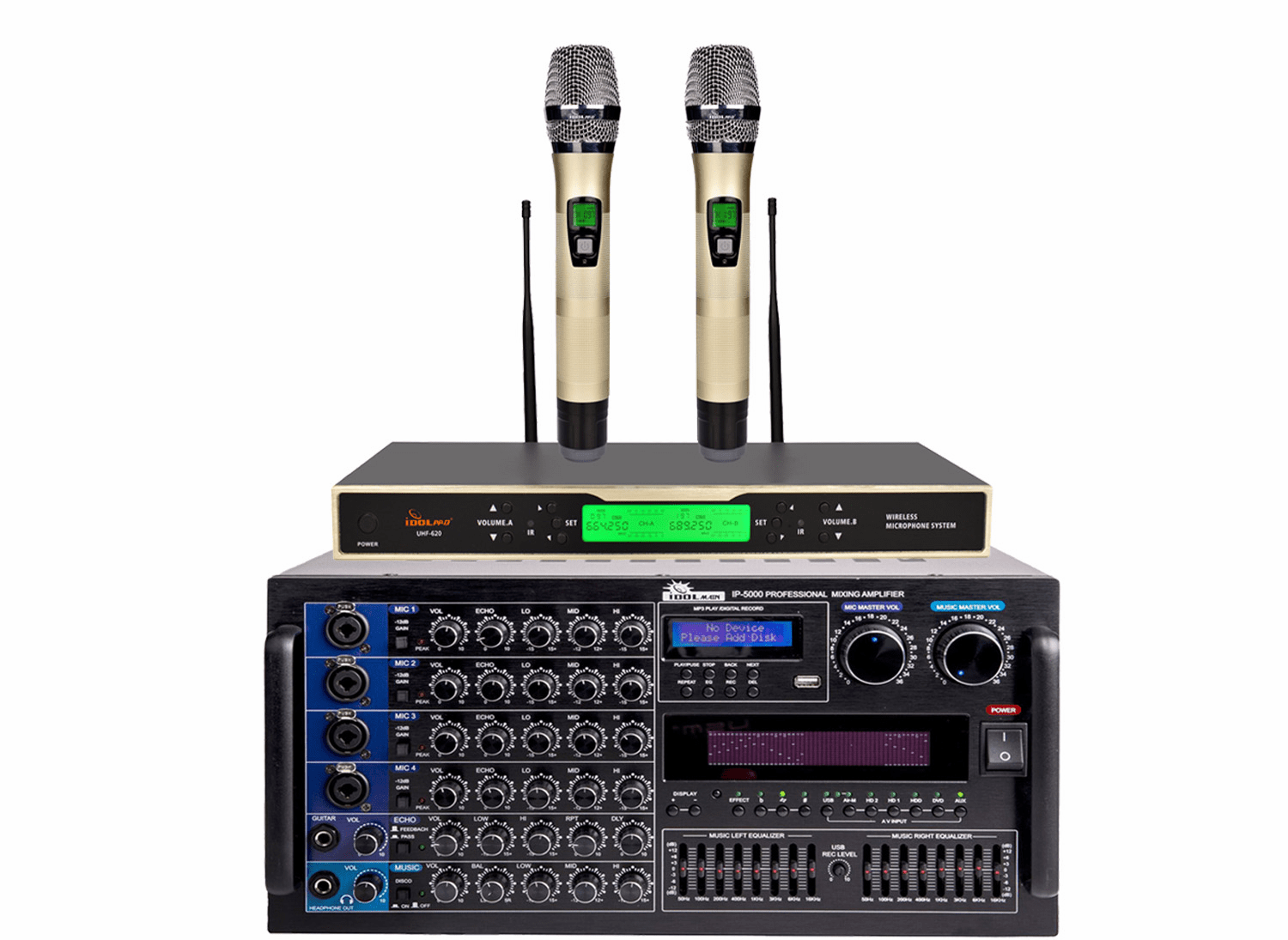 "<font color="" blue""> PACKAGE 7</font> --IP-5000 Mixing Amplifier & UHF-620 Wireless Microphone"