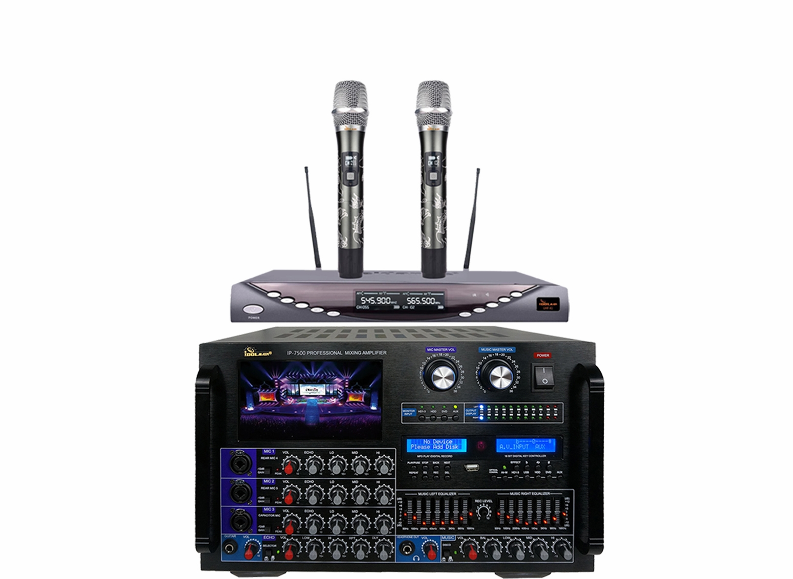 "<font color="" blue""> PACKAGE 7</font> --IP-7500 Mixing Amplifier & UHF-X1D Wireless Microphone"