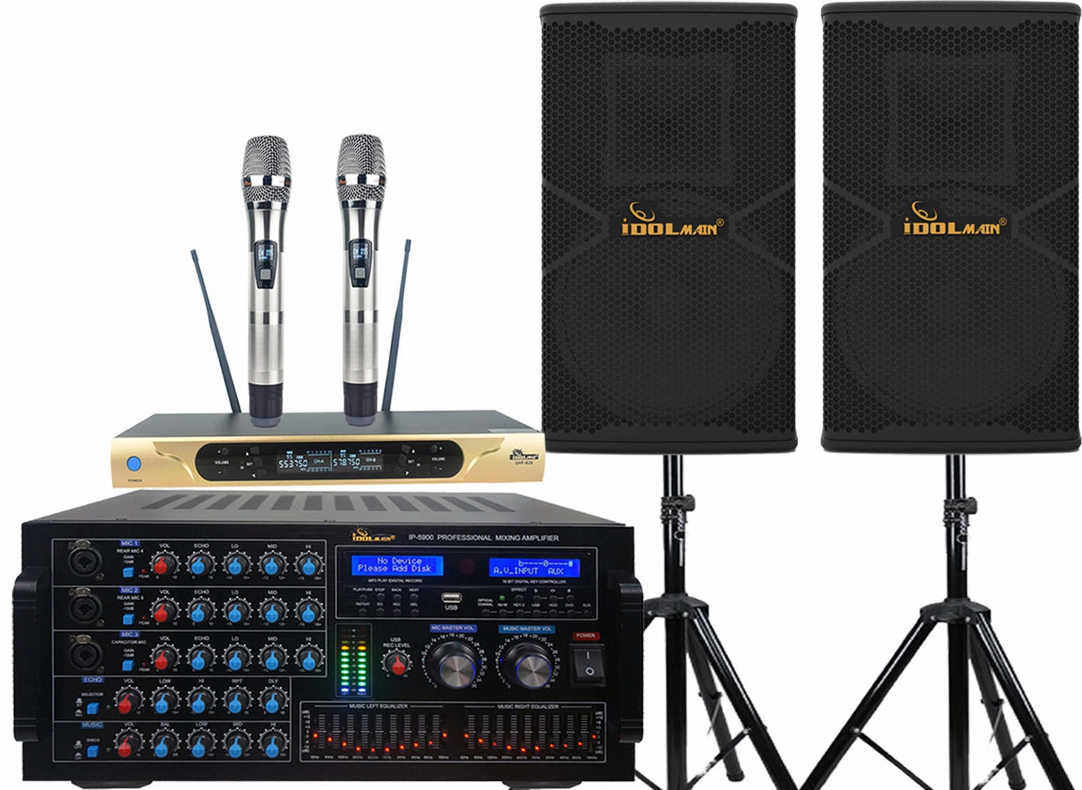 "<font color="" blue"">PACKAGE 8 </font> -- IPS-P18 Speakers, IP-5900 Mixing Amplifier,UHF-626 Wireless MicrophoneS"