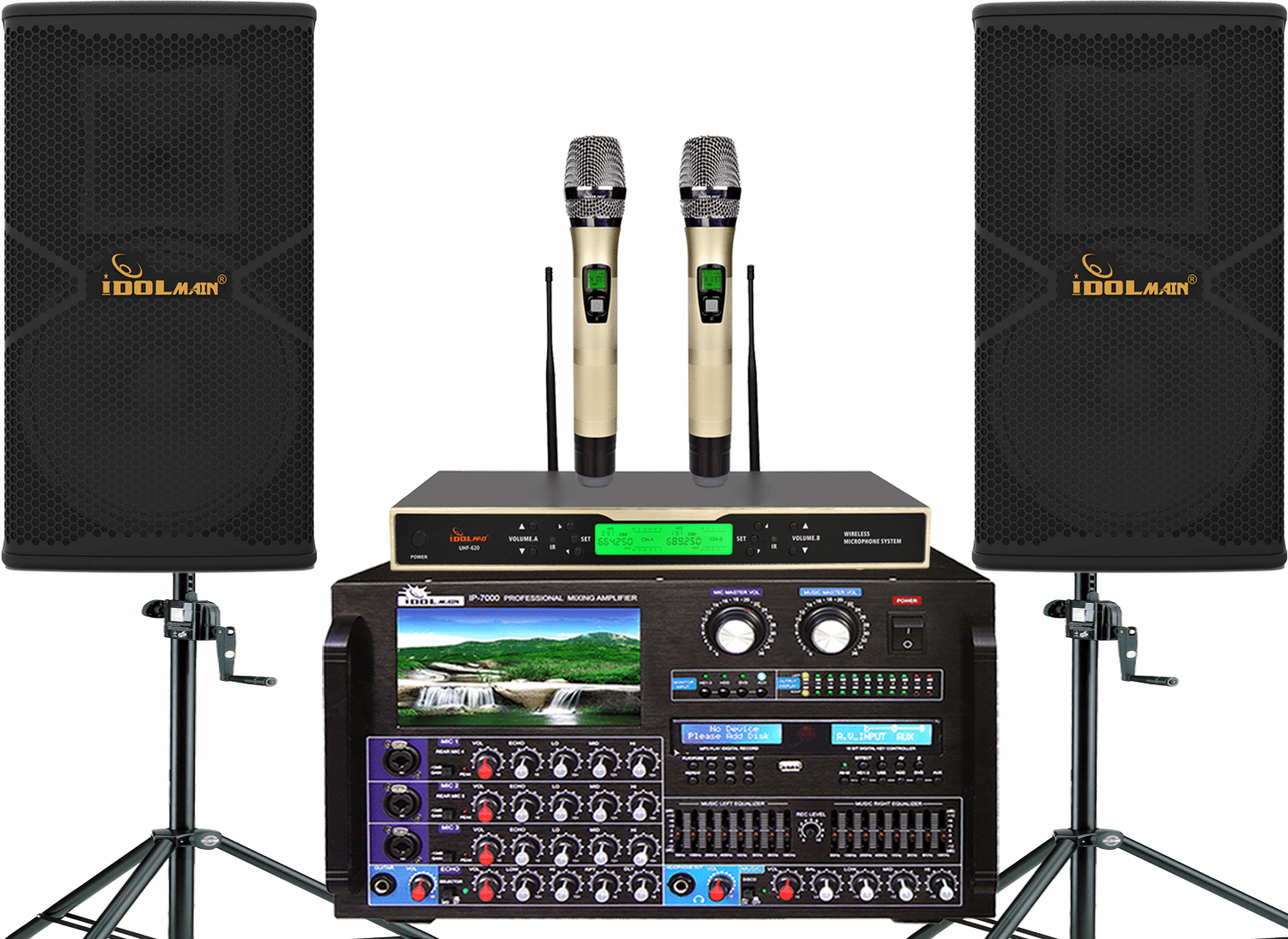 "<font color="" blue"">PACKAGE 8 </font> -- IPS-P18 Speakers, IP-7000 Mixing Amplifier, Wireless Microphone UHF-620"