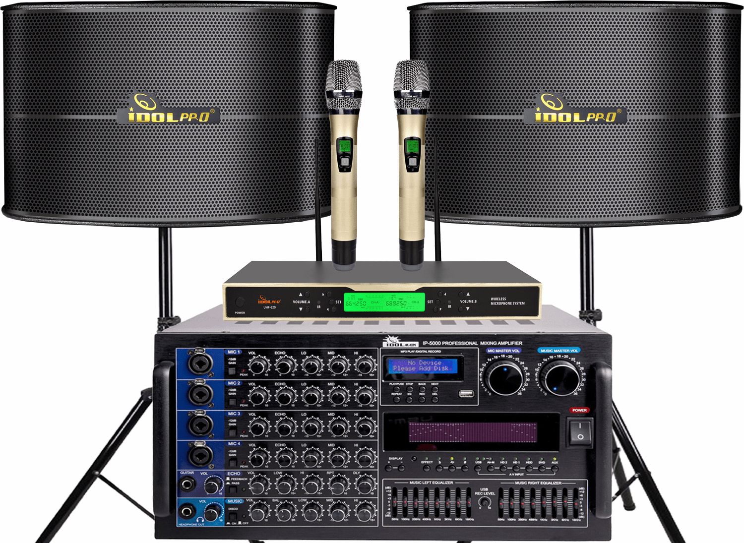 "<font color="" blue"">PACKAGE 9</font>--IPS-13 Speakers & UHF-620 Microphone & IP-5000 Mixing Amplifier"