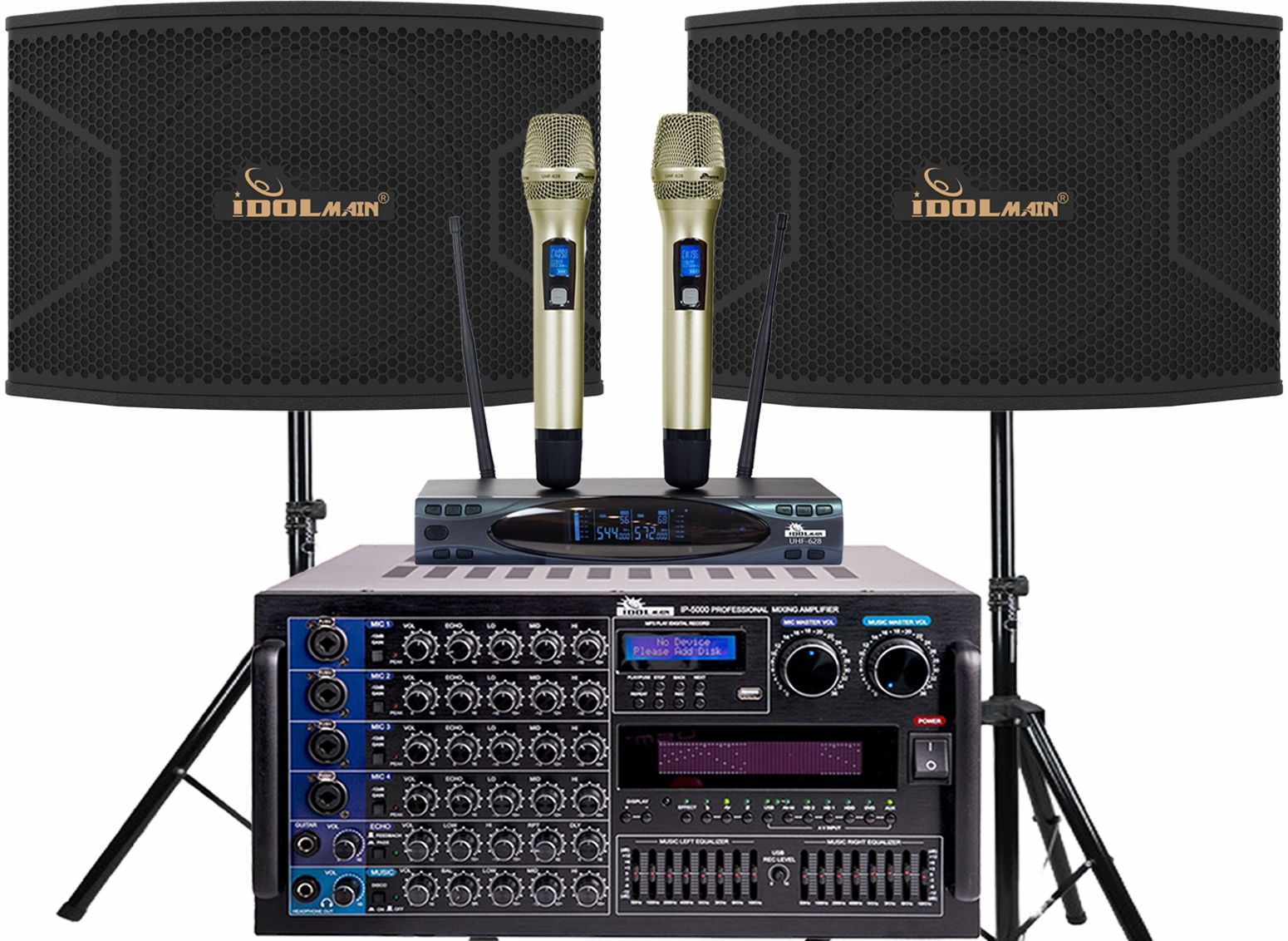 "<font color="" blue"">PACKAGE 9</font>--IPS-20 Speakers & UHF-628 Microphone & IP-5000 Mixing Amplifier"