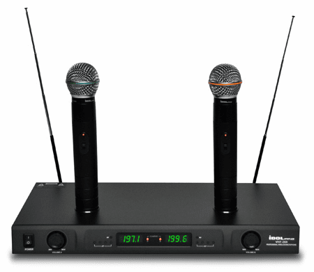 "VHF-269 Dual Rechargeable Wireless Karaoke Microphone /w Individual Volume Control <font color="" orange""> Discontinued </font>"