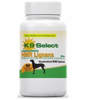 New! K9 Select Peanut Butter Chewable 20 mg HMR Lignans for Dogs!