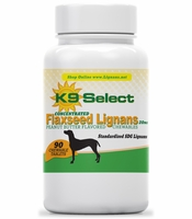 New! K9 Select Peanut Butter Chewable 20 mg SDG Lignan for Dogs!