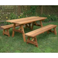 "27"" Wide Classic Family Picnic Table Set - Cedar"