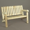 4' Log Style Garden Settee - Estimated Available to Ship End of June