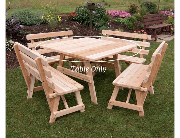 "43"" Traditional Cedar Square Table Only"