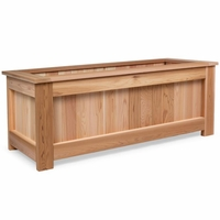 48 Inch Rectangular Cedar Planter Box Kit