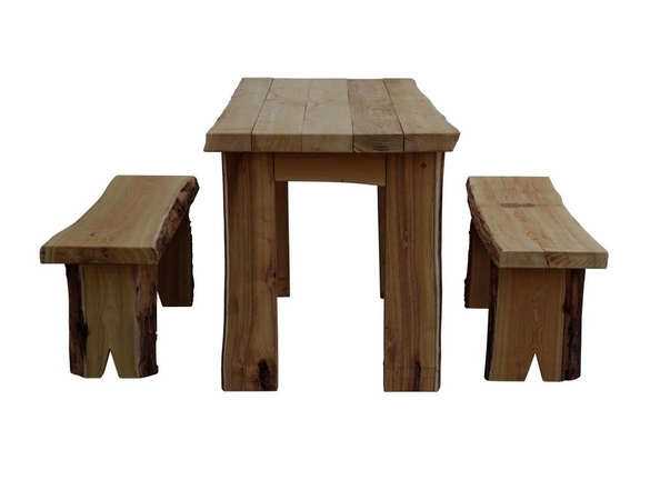 5ft Autumnwood Table Set with 2 Wildwood Benches