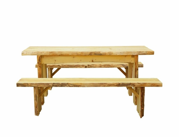 6ft Autumnwood Table Set with 2 Wildwood Benches