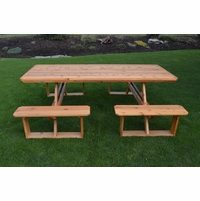 8 Foot Cedar Walk-in Picnic Table