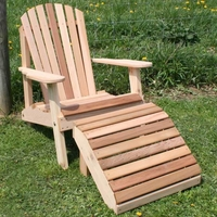 Adirondack Chair and Footrest Set - Cedar American Forest