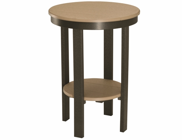 """Berlin Gardens Resin 22"""" Round Bar Height End Table"""