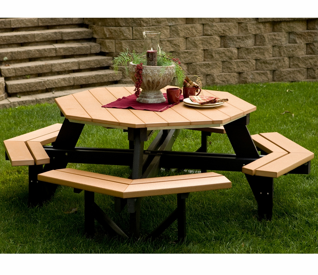 Octagonal Wood Picnic Table Octagon Outdoor Table