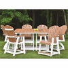 Berlin Gardens Resin Comfo-Back 6 Seat Counter Height Dining Set