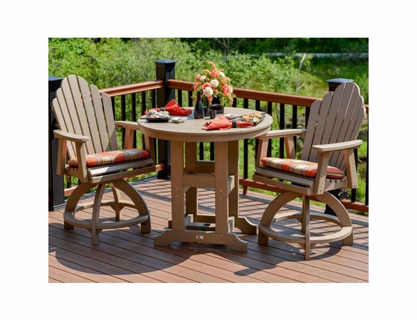 Berlin Gardens Resin Cozi-Back 2 Seat Counter Height Bistro Set