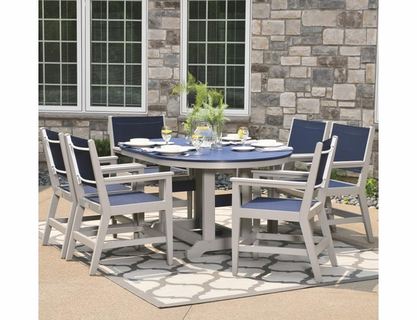 Berlin Gardens Resin Mayhew 6 Seat Oval Table Dining Set