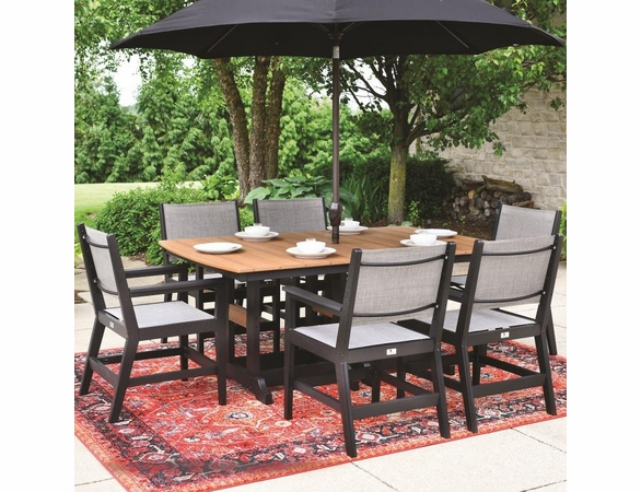 Berlin Gardens Resin Mayhew 6 Seat Rectangular Table Dining Set
