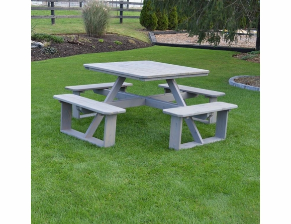 "Cedar 44"" Square Walk-in Picnic Table"