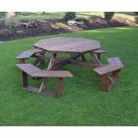 "Cedar 54"" Octagon Walk-in Picnic Table"