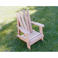 Cedar Child Size Wide Slat Adirondack Chair