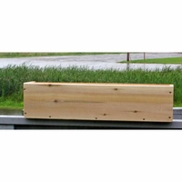 Cedar Plain Front Window Box Planter - 3 Sizes - Currently Out of Stock