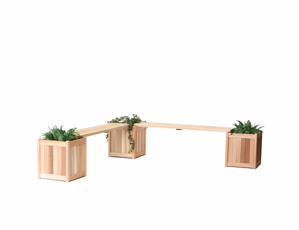 Cedar Planter with Bench Kit