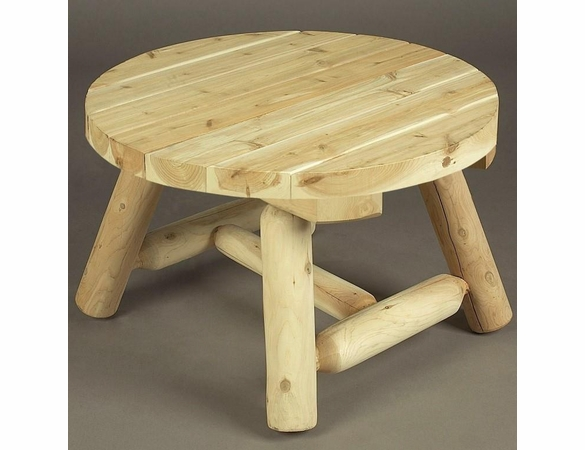 Cedar Rustic Round Coffee Table
