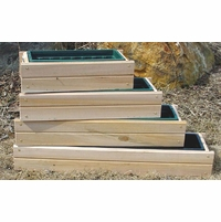 Cedar Window Box Planter w/ Liner - Currently Out of Stock