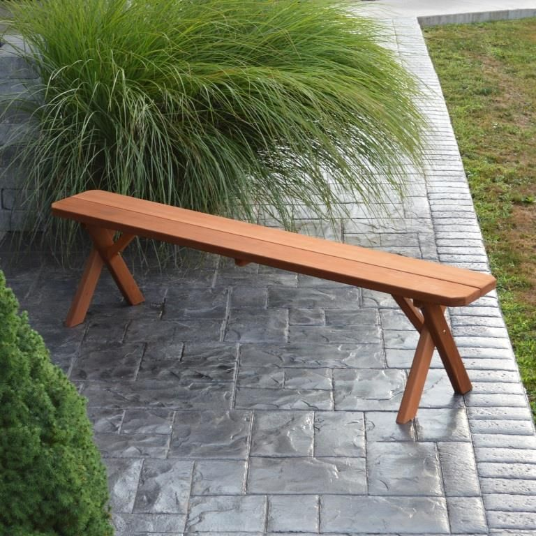Wondrous Cross Leg Cedar Backless Bench 2 3 4 5 6 Or 8 Ncnpc Chair Design For Home Ncnpcorg
