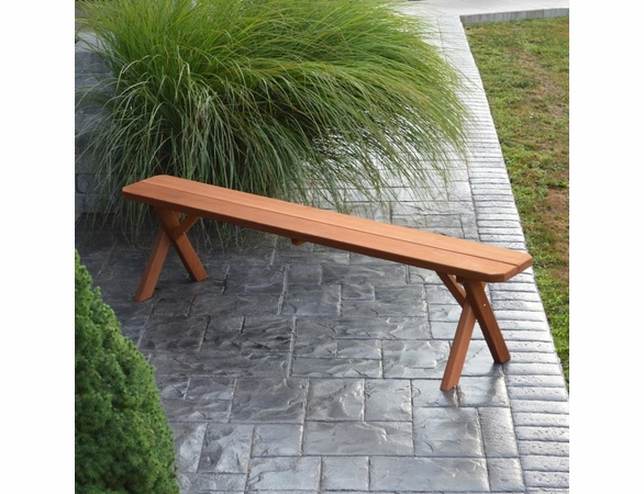Cross Leg Cedar Backless Bench (2',3',4', 5', 6', or 8')