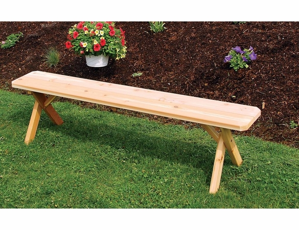 Cross Leg Pine Picnic Bench Only (2',3',4', 5', 6', or 8')
