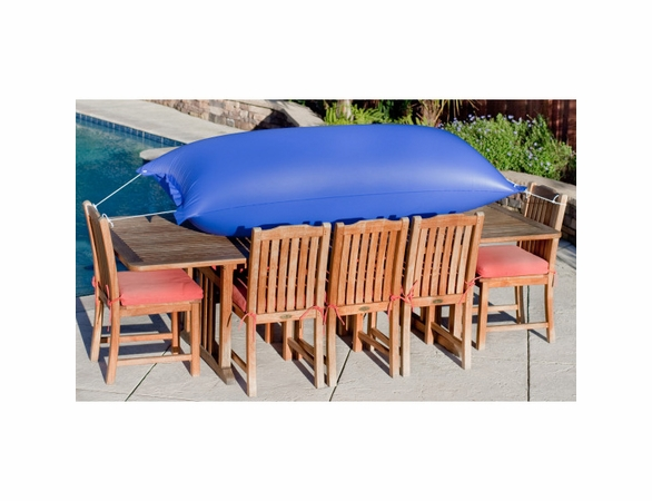 "Duck Covers 140""L Rectangle Patio Table and Chairs Cover"