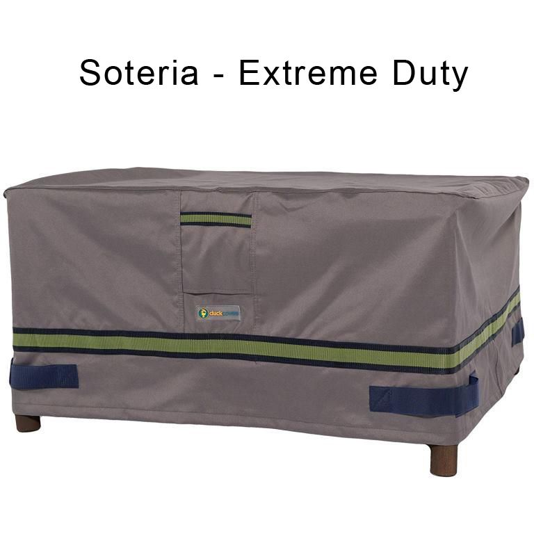 """Patio Furniture Side Table Cover: Duck Covers Elite 24""""L Patio Ottoman/Side Table Cover"""